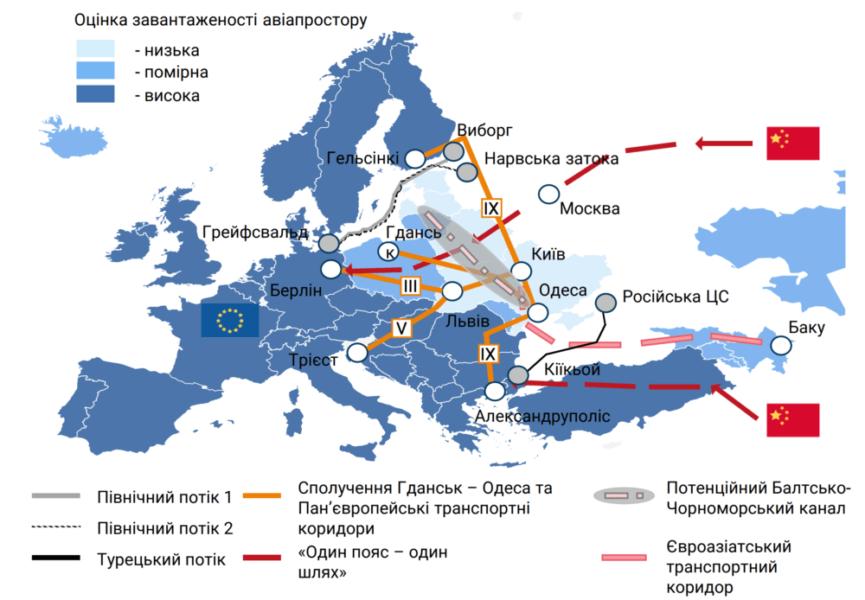 Транзитний потенціал України використовується тільки на 25–30%